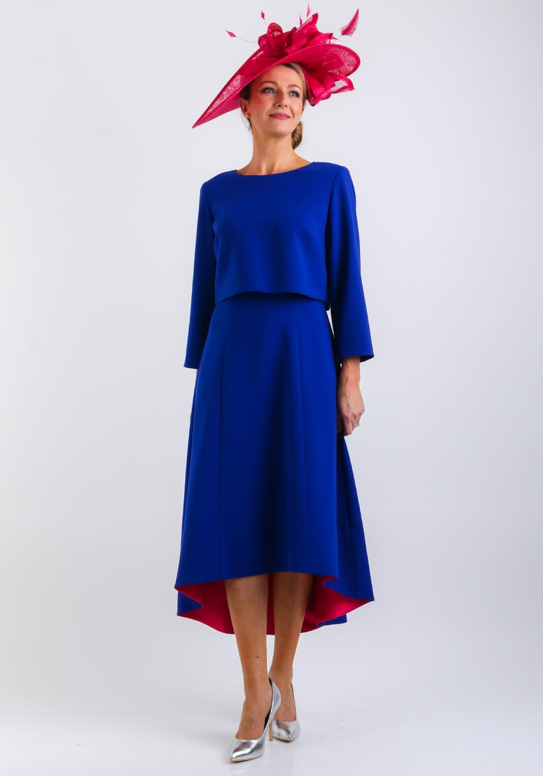 Cassandra Flared Dress Amp Jacket Royal Blue Mcelhinneys