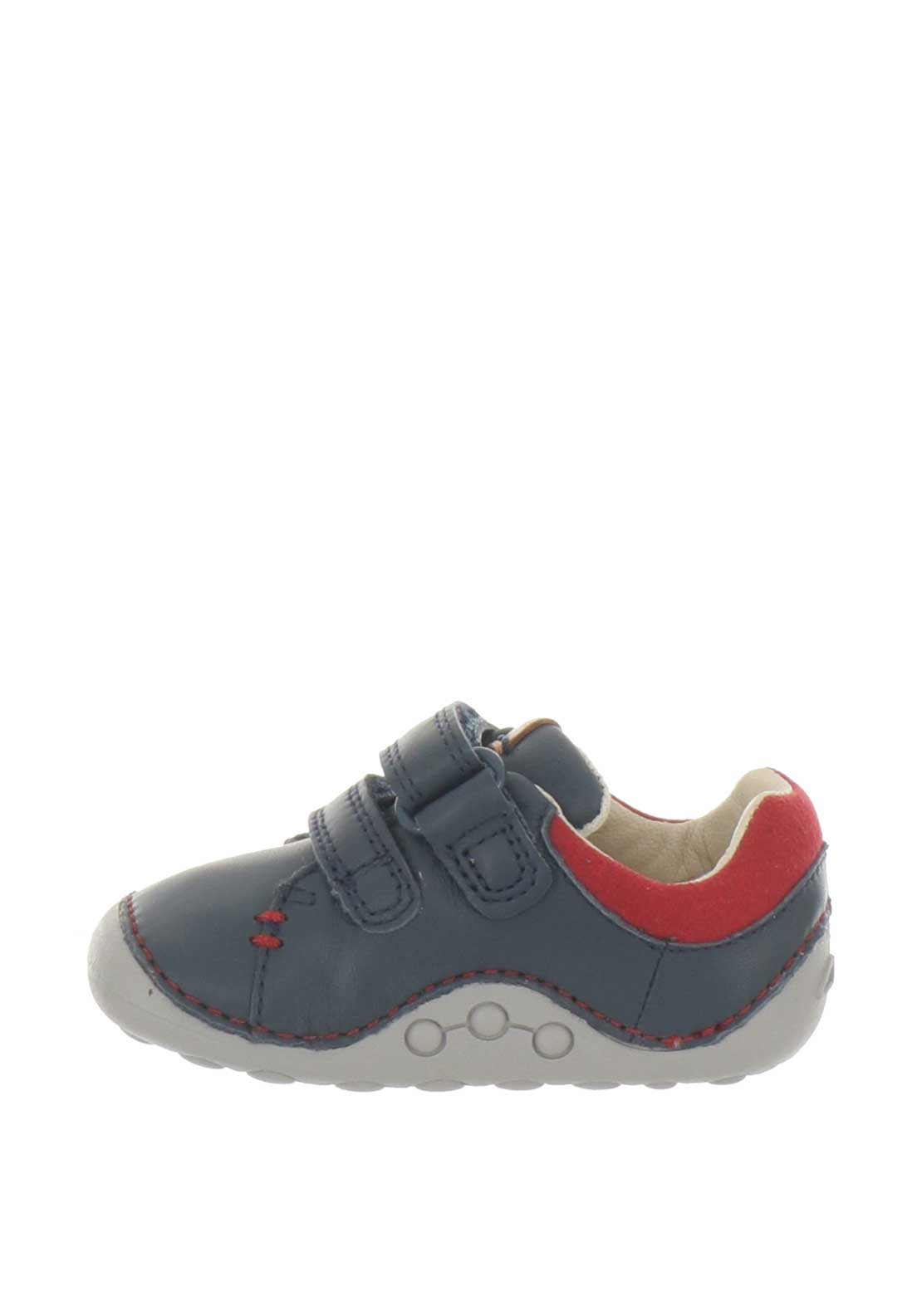0ed6edcc Clarks Baby Boys Tiny Toby Leather Pre-Walking Shoes, Navy