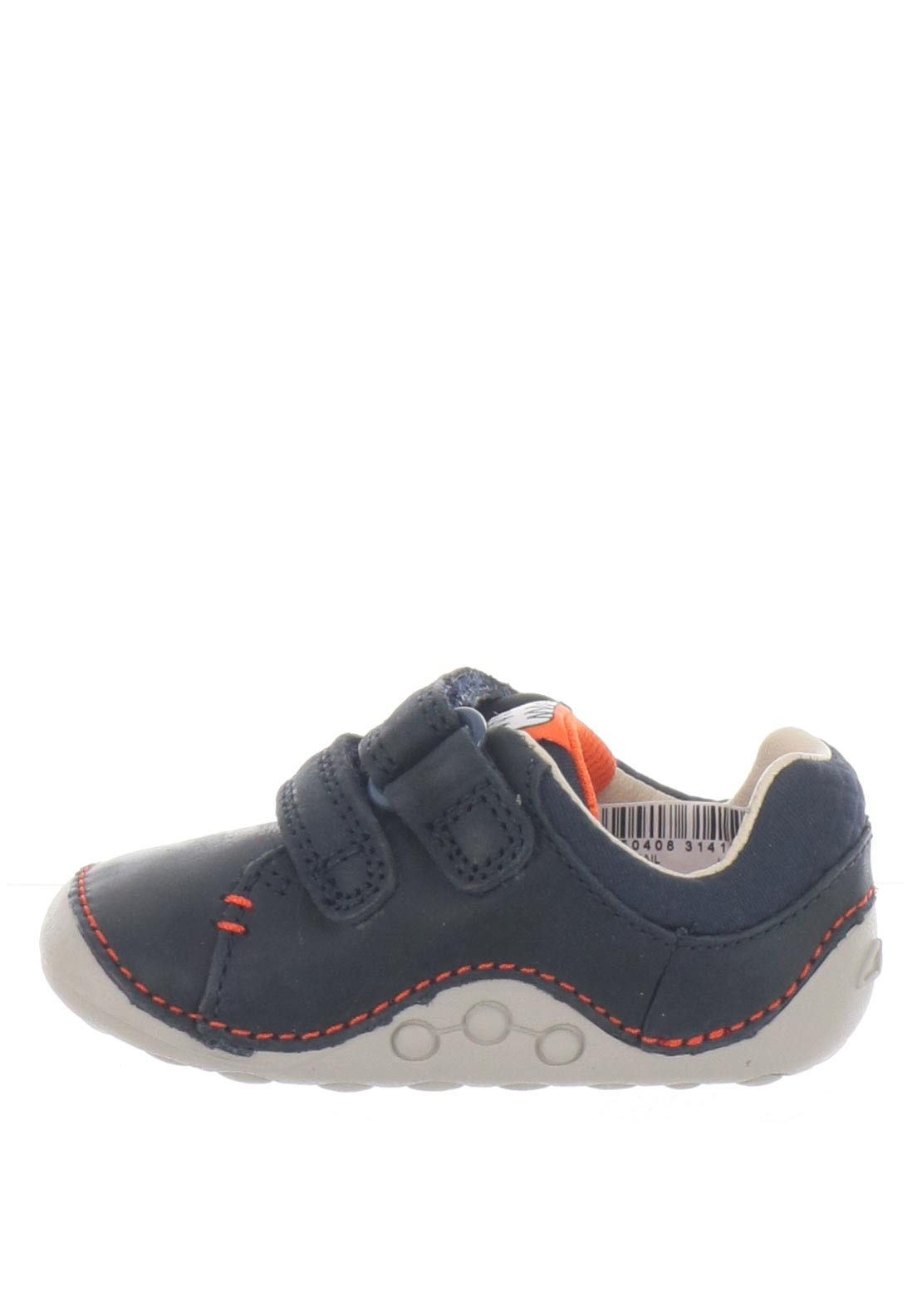 b16410de Clarks Baby Boys Tiny Trail Leather Pre-Walking Shoes, Navy