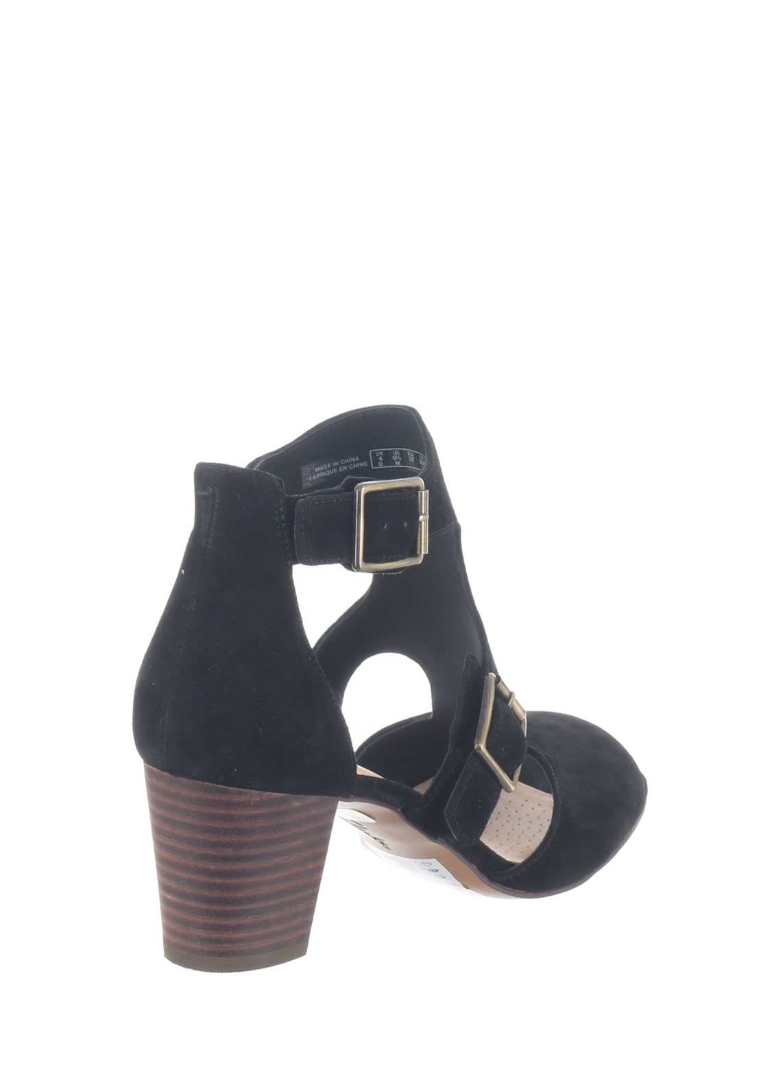 5ca946619393 Clarks Womens Deloria Kay Suede Heeled Sandals