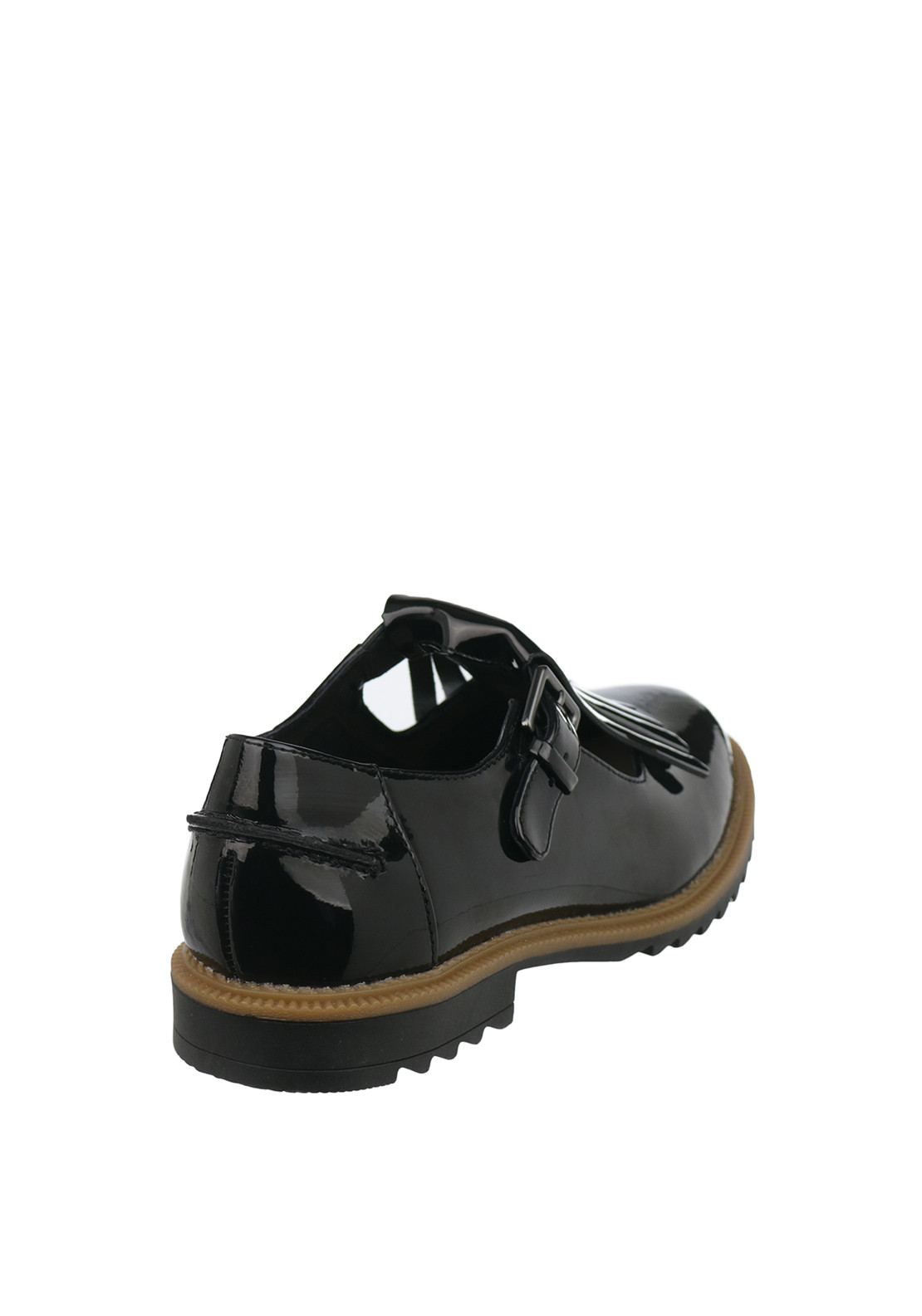 7b5ee107e884c Clarks Womens Griffin Mia Patent Leather Fringed Buckled Shoes, Black. Be  the first to review this product