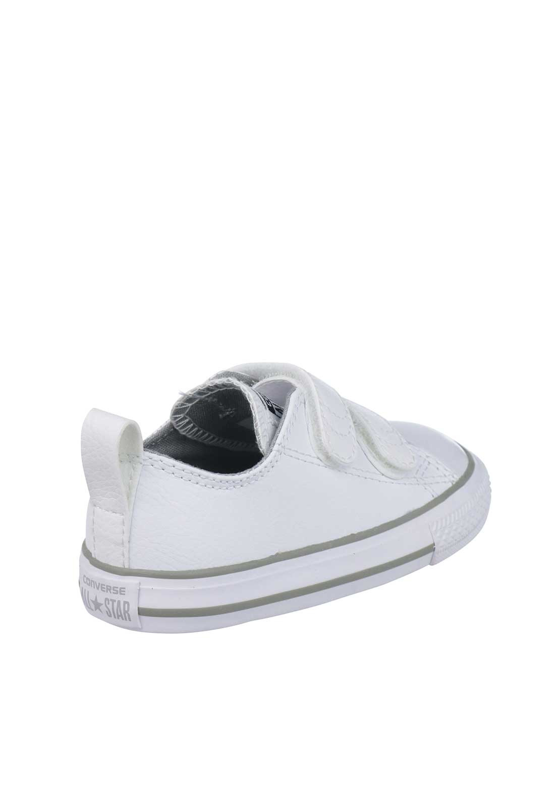 57bd4735b7b3 Converse Baby All Star Velcro Leather Trainers