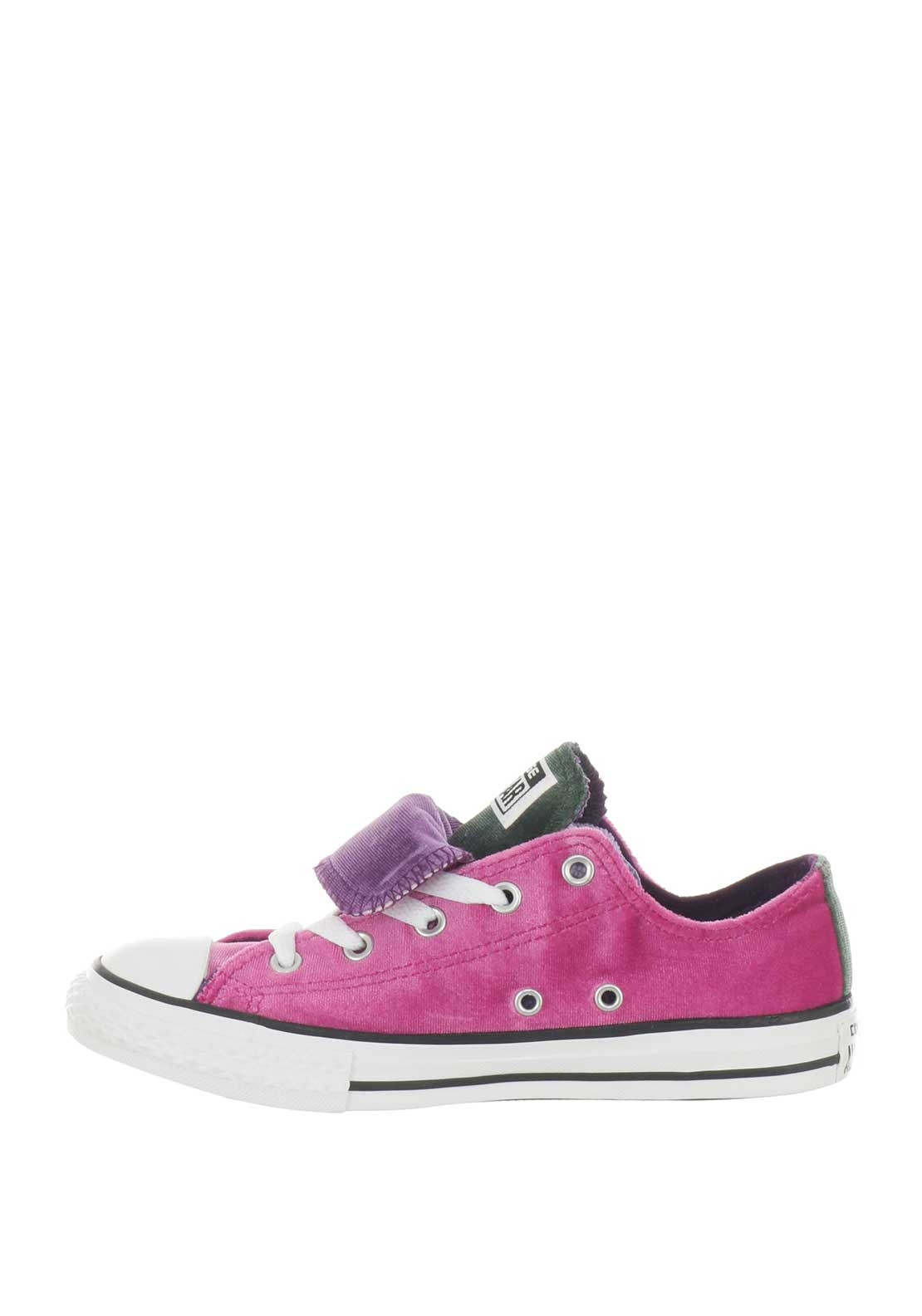 5b1a6cec2823 Converse Girls Velvet Low OX Trainers