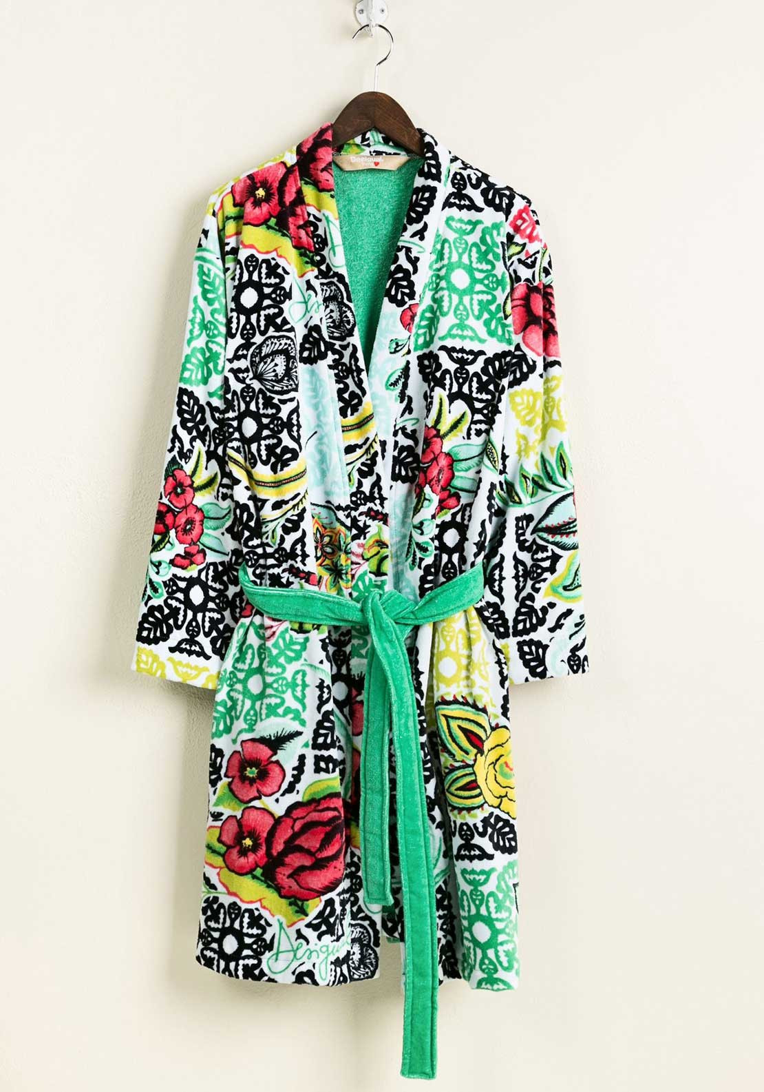 Desigual Womens Floral Print Dressing Gown, Multi-Coloured | McElhinneys