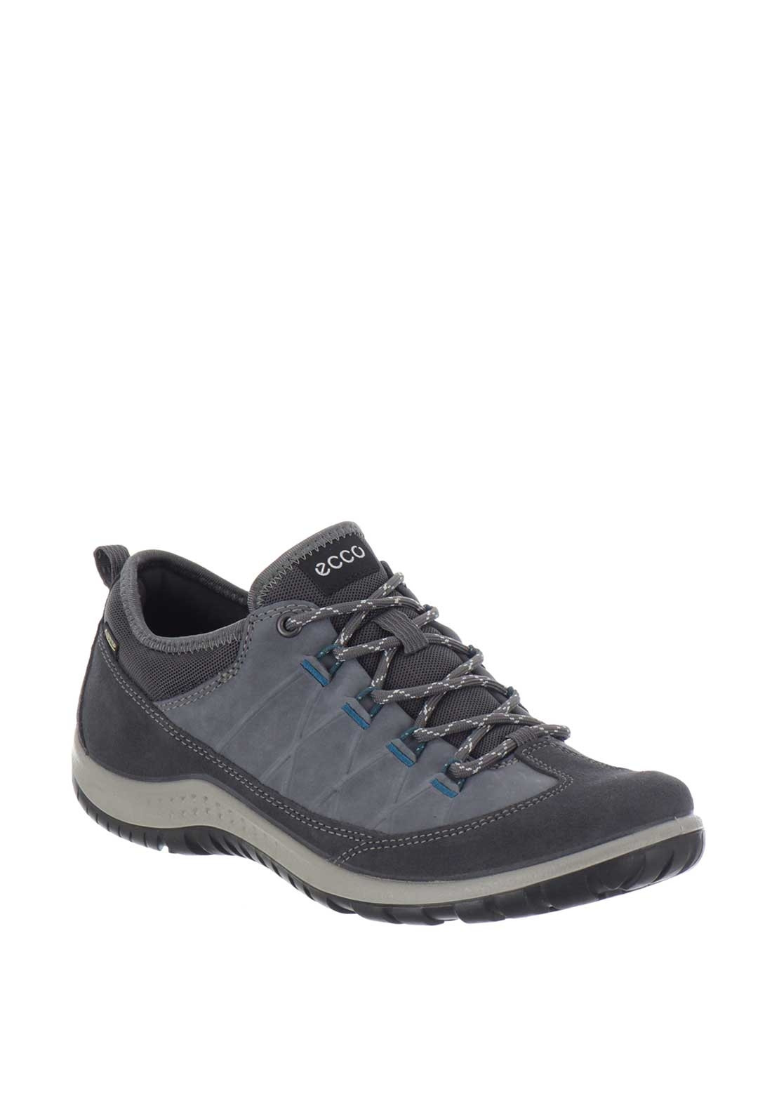 Ecco Womens Aspina Suede Walking Shoes Blue Mcelhinneys