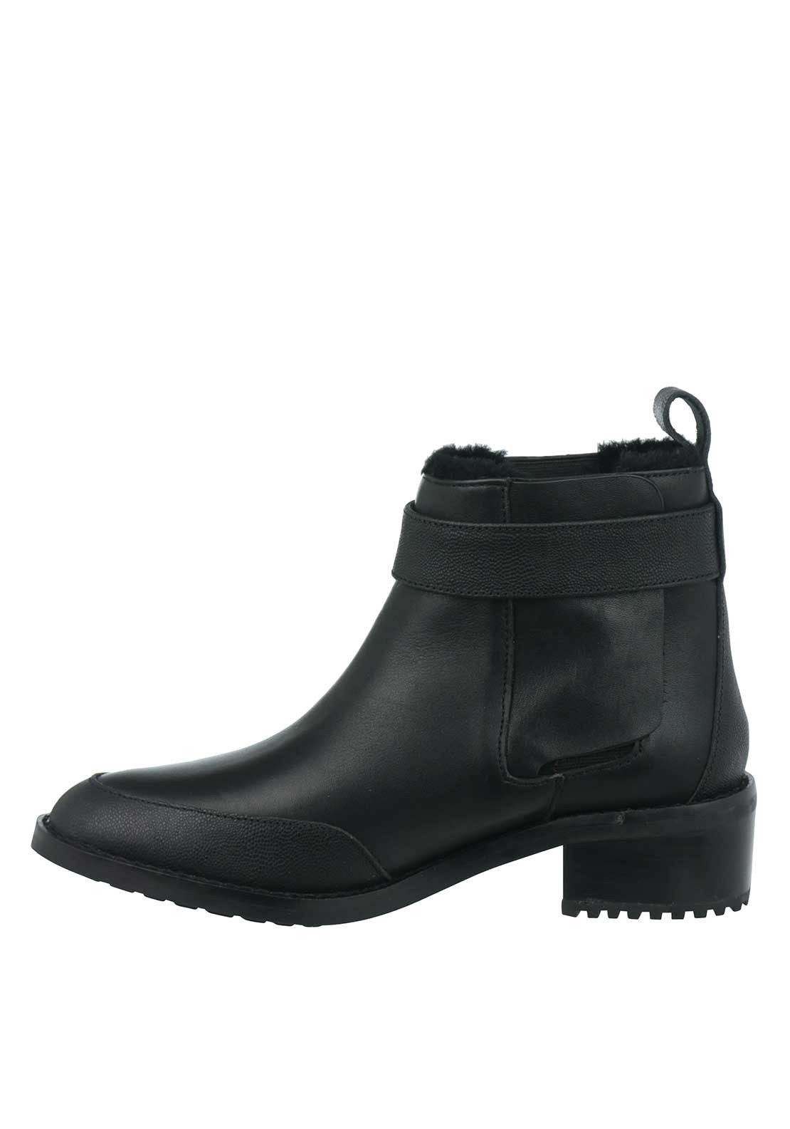 emu australia medlow leather ankle boots black
