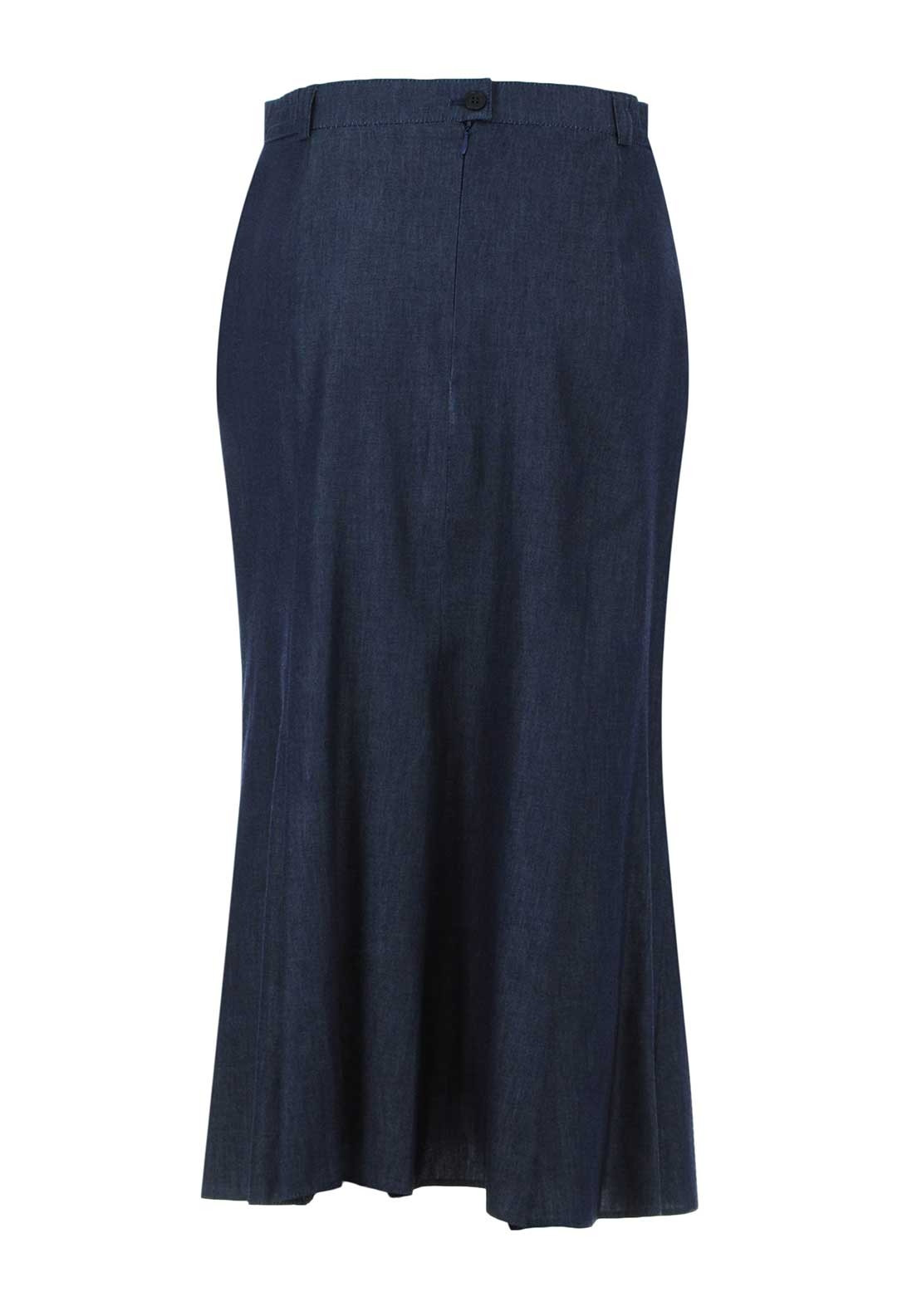 cdd2be7d20 Eugen Klein Denim Flared Midi Skirt, Navy. Be the first to review this  product