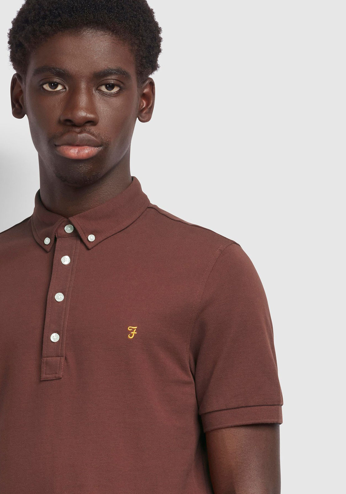 Details about  /Farah Ricky Mens T-shirt Polo Shirt Burgundy All Sizes
