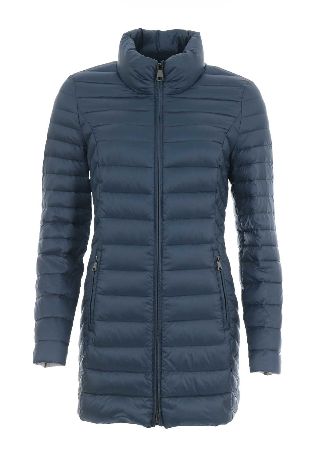 Gerry Weber Down Filled Quilted Coat Blue Mcelhinneys