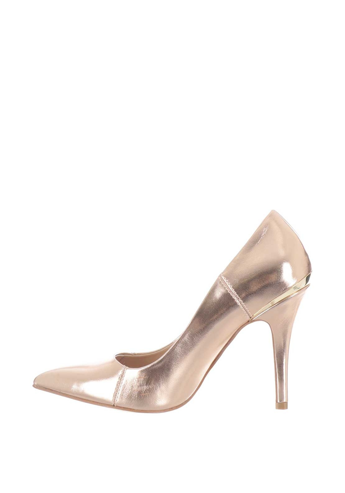 2e3c660c5a0 Glamour Carrie Metallic Heeled Shoes
