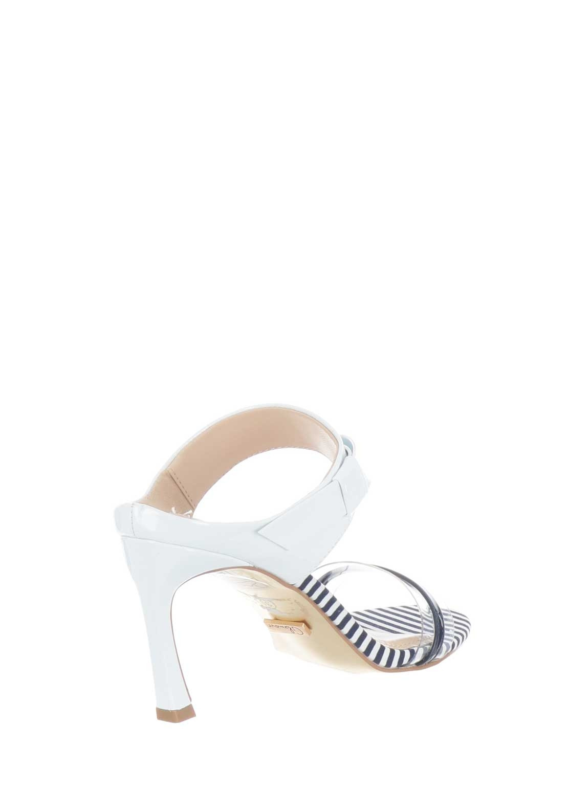 6812786bc07 Glamour Selina Clear Strap Patent Slip on Sandals, Navy