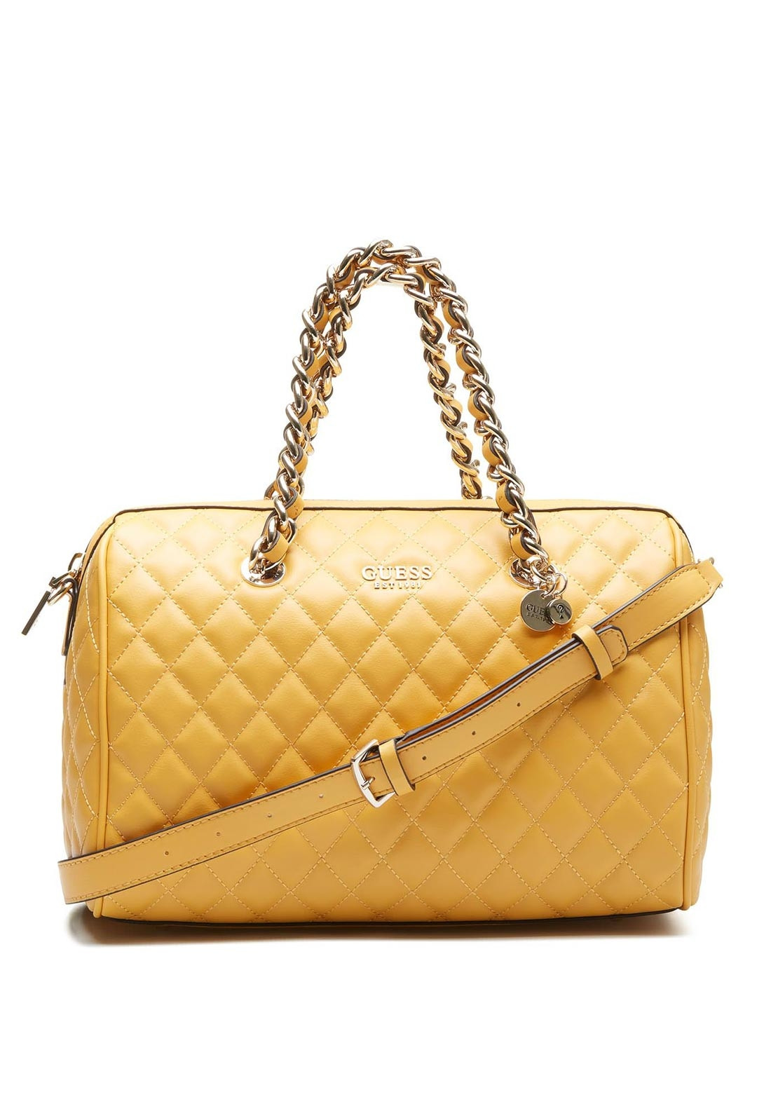 8c421dd12db7 Guess Sweet Candy Quilted Shoulder Bag, Marigold