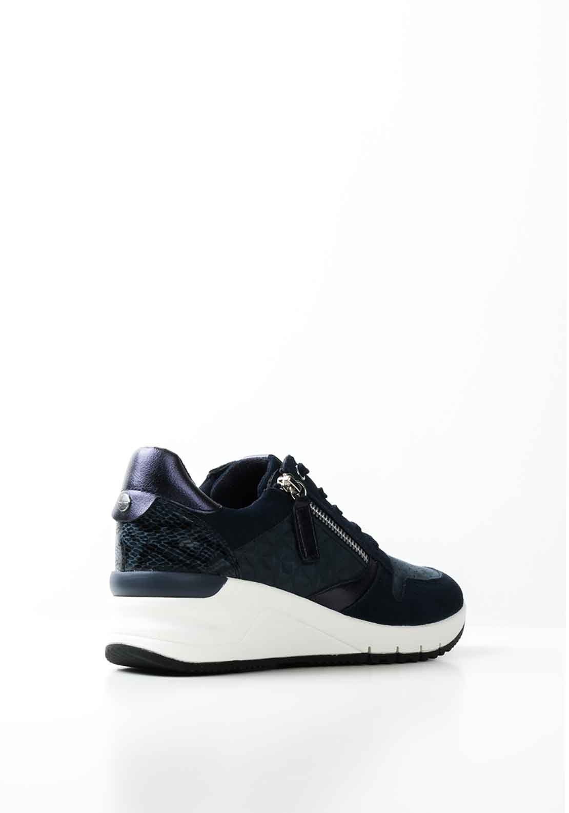 Tamaris Suede Lace Up Wedged Trainers