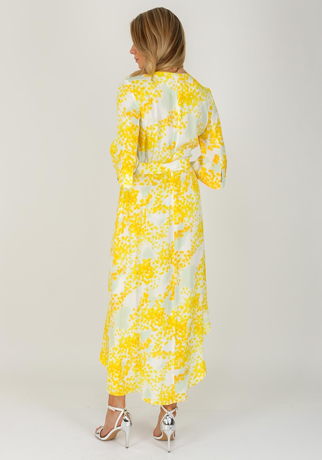 Selina Floral Mcelhinneys Dip Dress Yellow Hem Inwear Maxi d5qx4p6dw