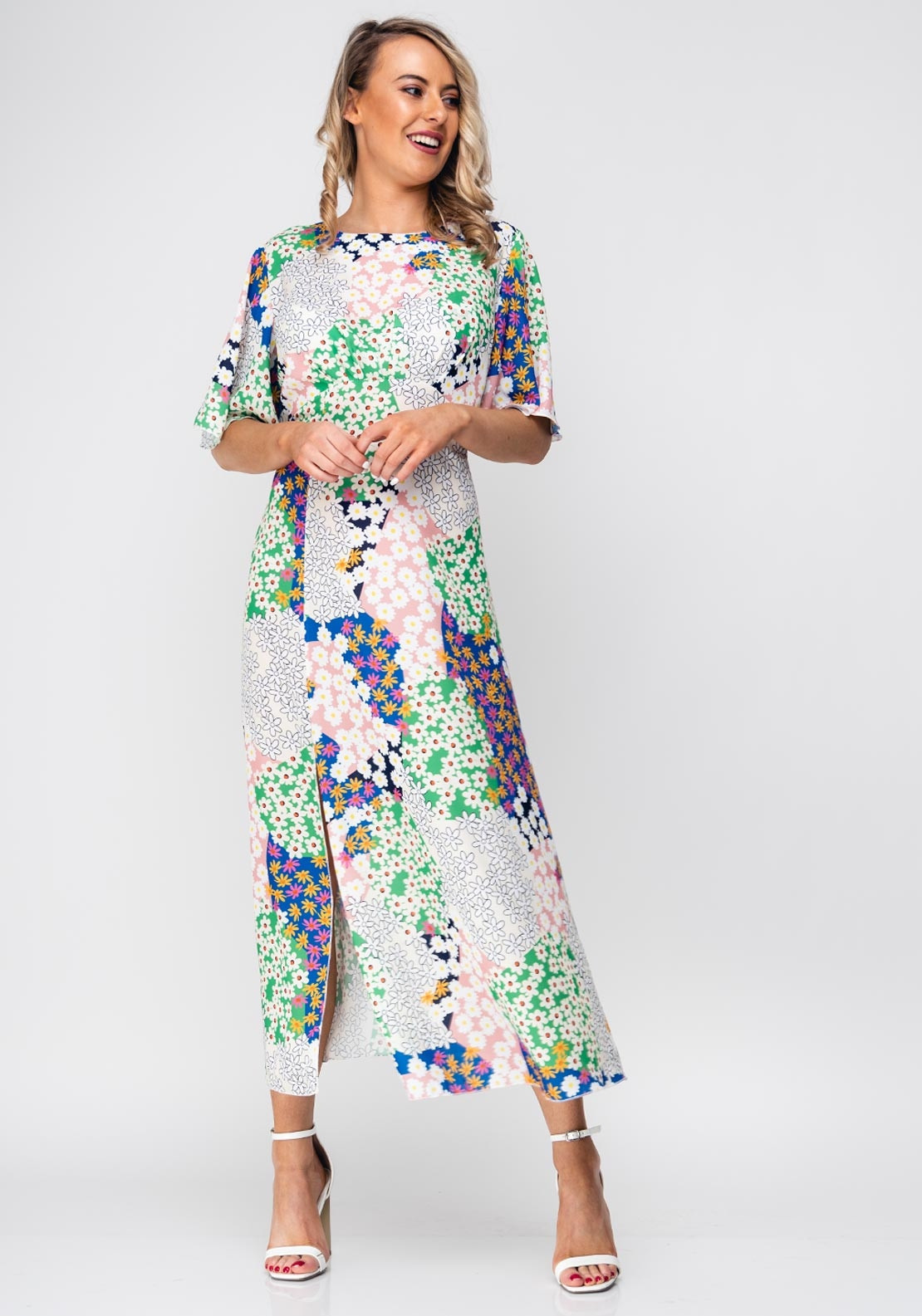 fcd020db79c5 Seventy1 Patchwork Flower Long Dress, Ivory. Be the first to review this  product
