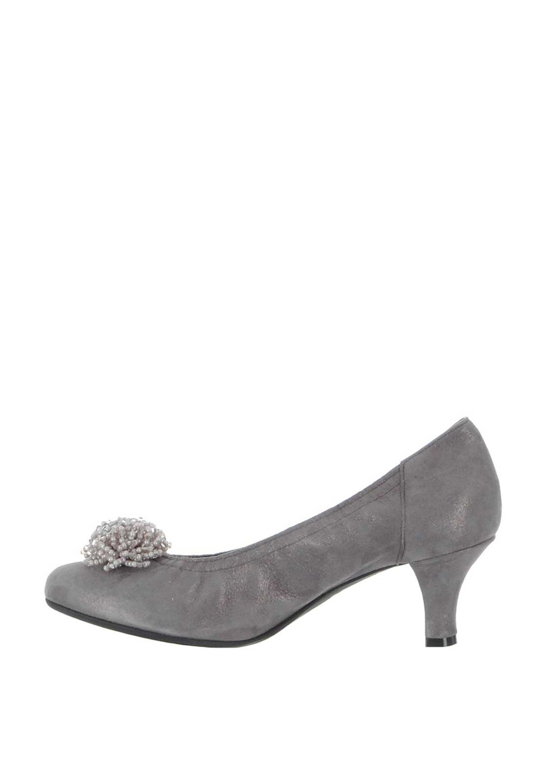 Babe Court Le Suede Low Beaded ShoesGrey PXZiOku