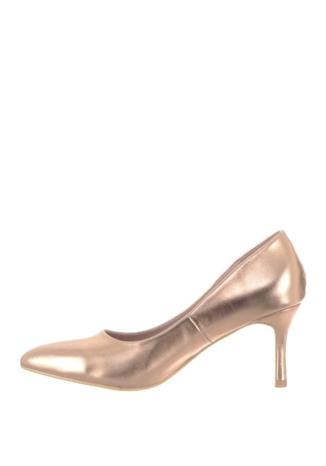 Buy JOYCE Pointed Toe Stiletto High Heel Court Shoes Gold