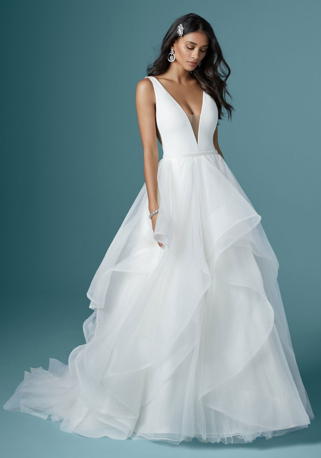 Maggie Sottero Fatima Wedding Dress Diamond White Mcelhinneys