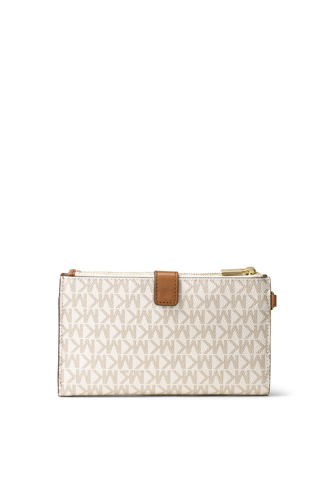 18fc95f0b010fa MICHAEL Michael Kors Adele Leather Wristlet Wallet, Vanilla. Be the first  to review this product
