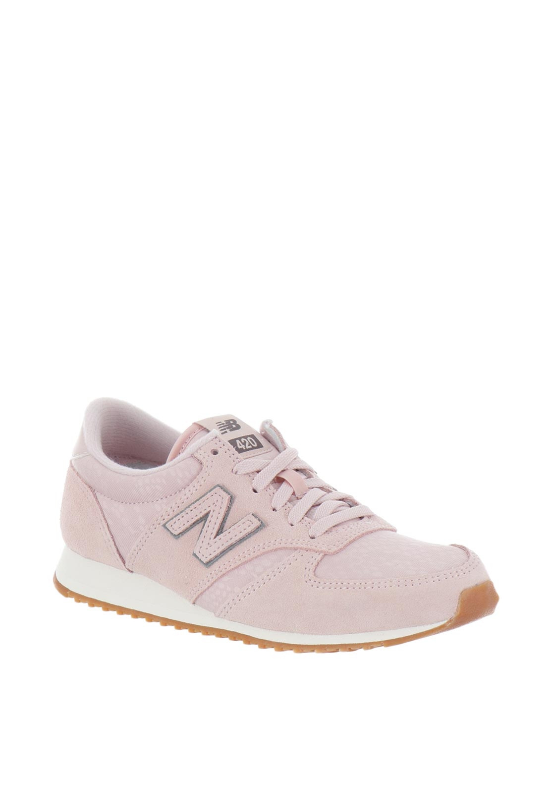 grand choix de 7a9af 84ee0 New Balance Womens 420 Suede Mix Trainers, Pink