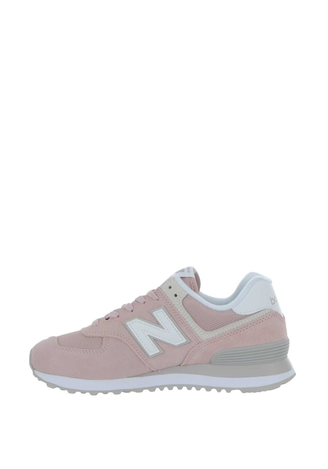 New Balance Womens 574 Suede Trainers, Pink