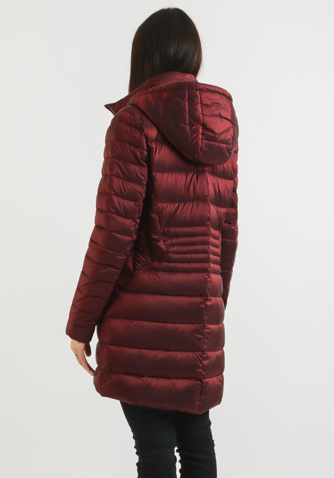 Normann Down Filled Quilted Coat Wine Mcelhinneys