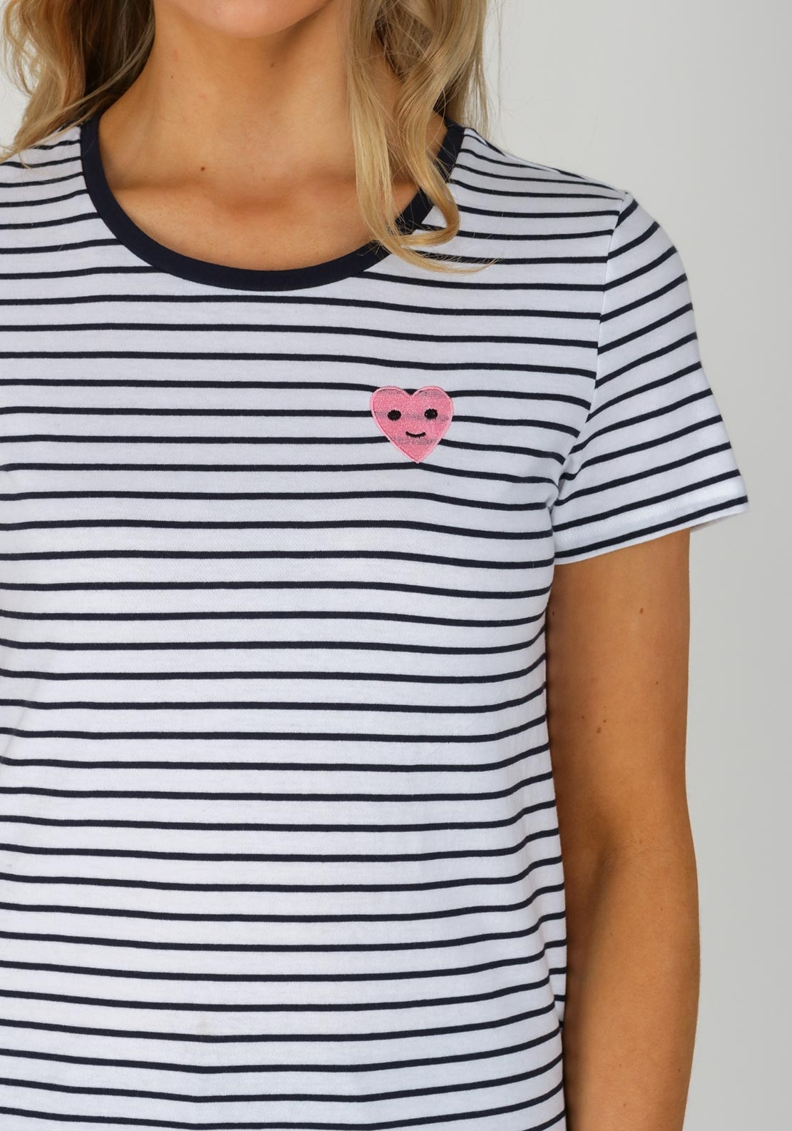 a4cf12f8cc Only Cos Striped Heart T-Shirt, Navy. Be the first to review this product