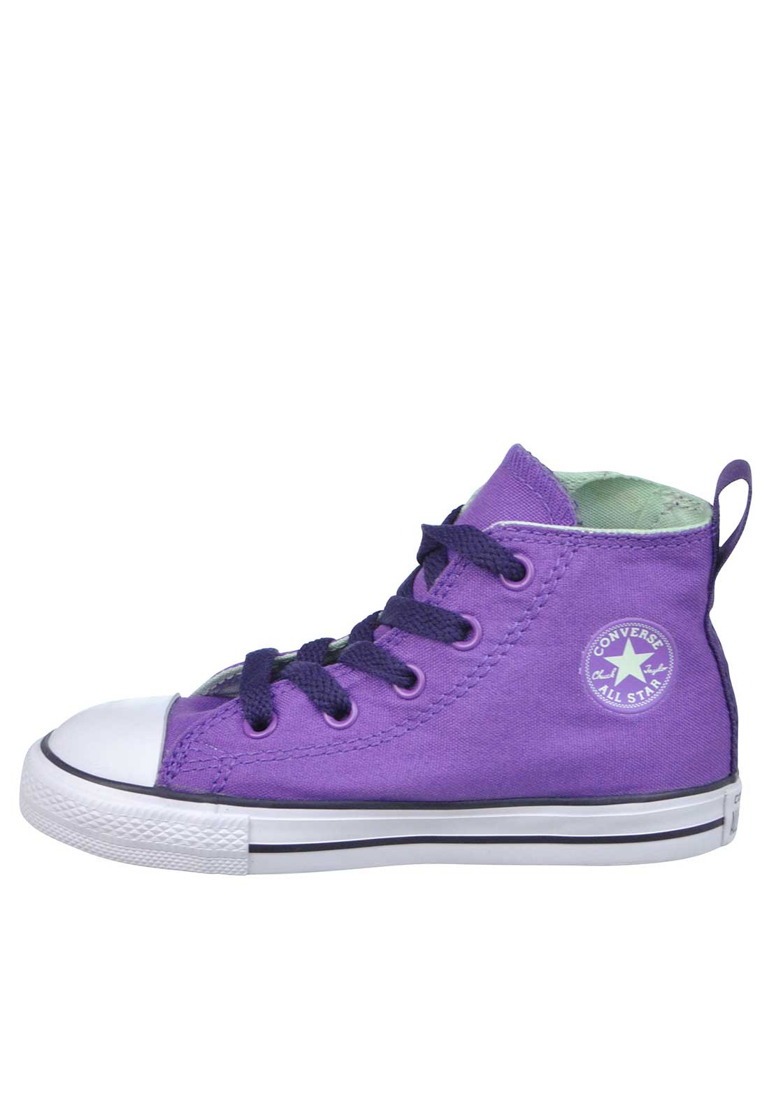 7907e0a5b536 Converse Baby Girls All Star Chuck Taylor Zip High Top Trainers ...