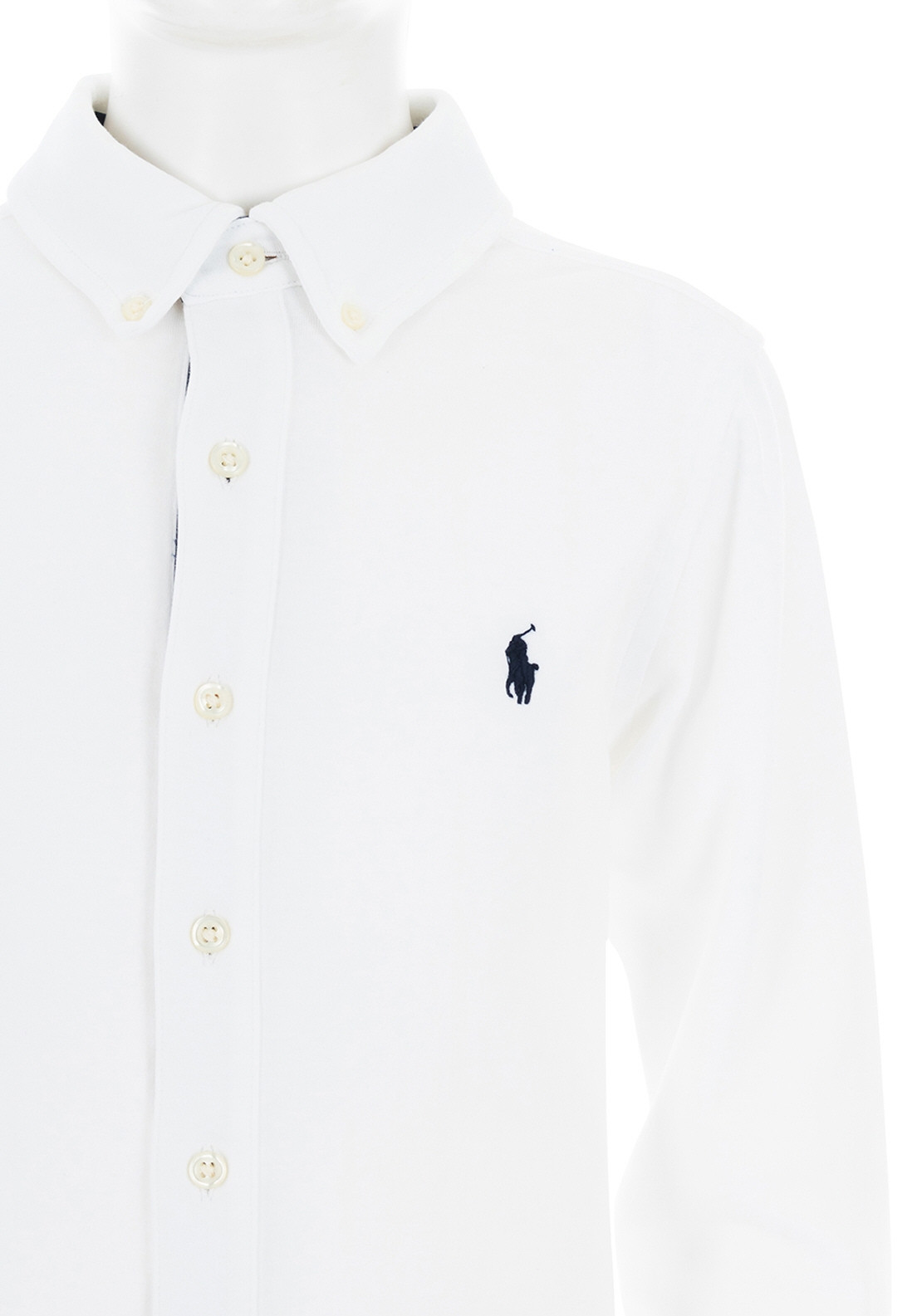 118373bc Ralph Lauren Long Sleeve Polo Jersey Shirt, White. Be the first to review  this product