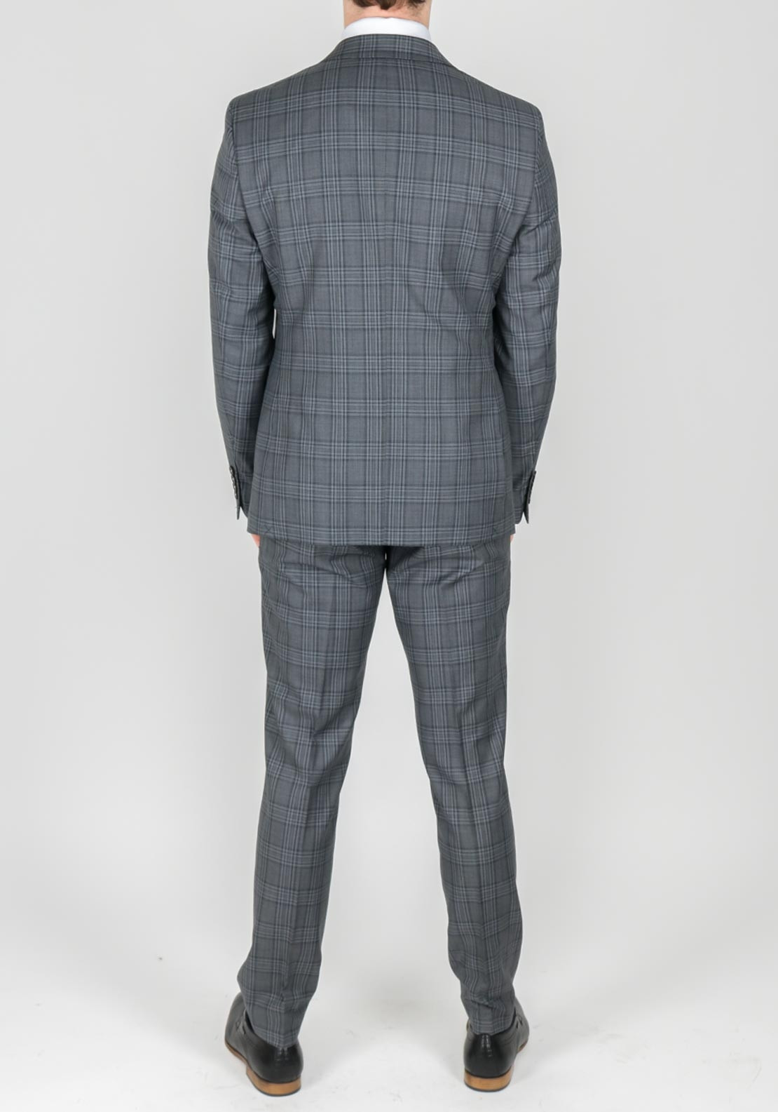 dcc74bc8b91aa2 Remus Uomo Wool Grey Tartan Check 3 Piece Suit | McElhinneys
