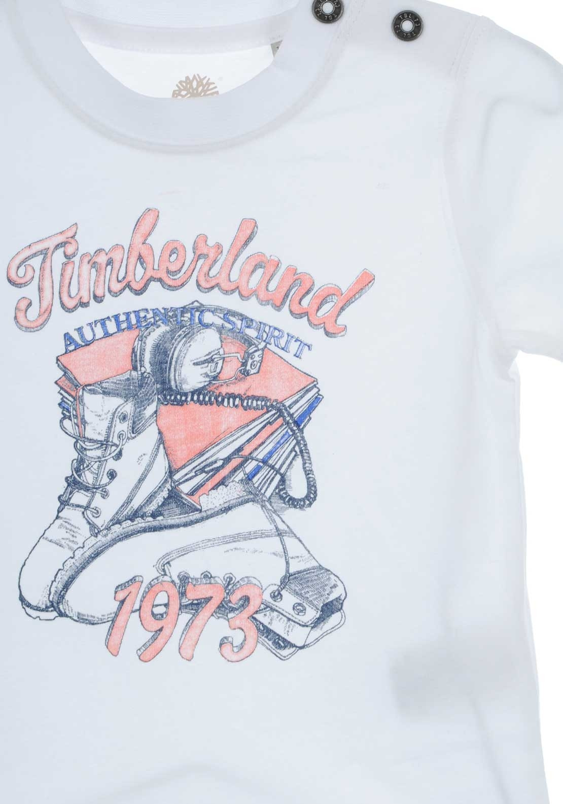 Timberland Baby Boys Authentic T-Shirt, White