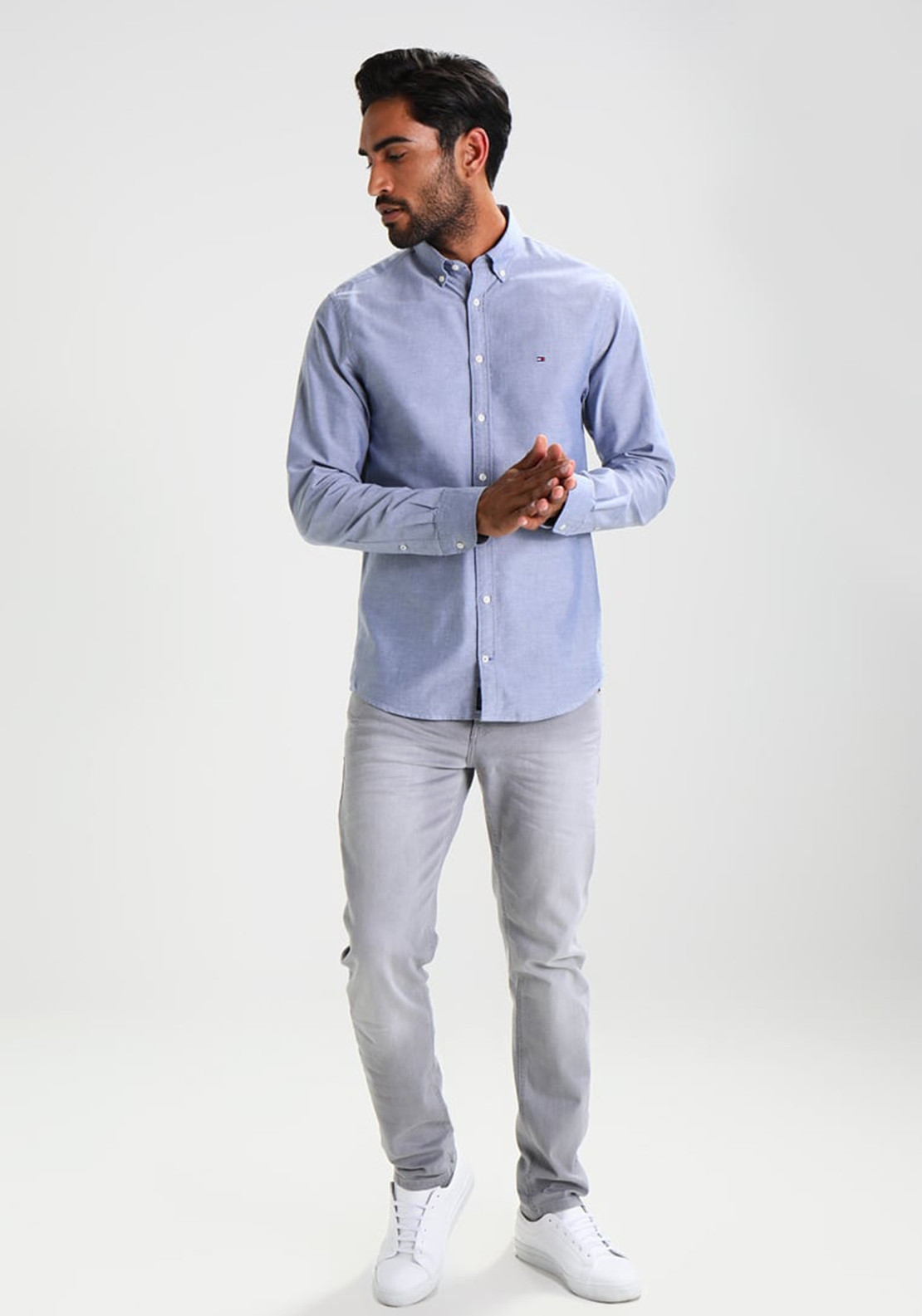 9509c4f93 Tommy Hilfiger Men's Engineered Oxford Shirt, Blue. Be the first to review  this product