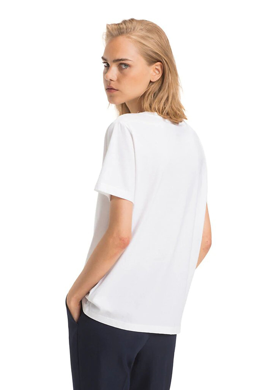 8cb69351 Tommy Hilfiger Womens Holli Logo T-Shirt, White. Be the first to review  this product