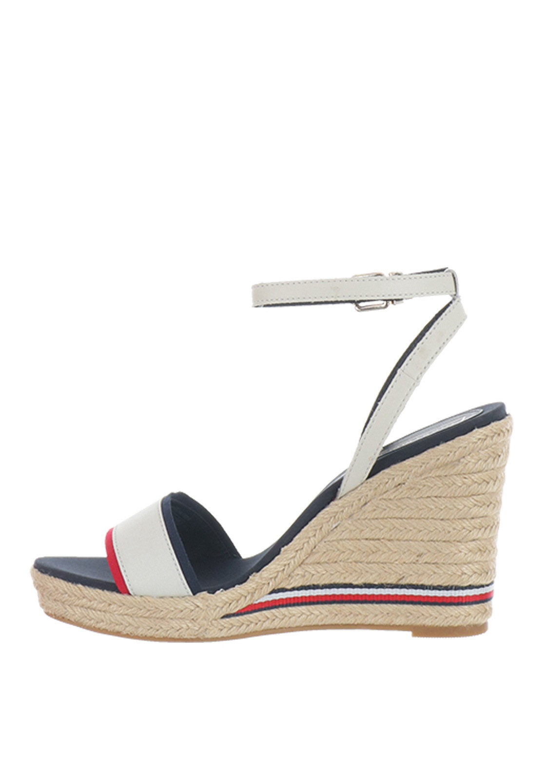 ba91eea21b Tommy Hilfiger Womens Elena Wedge Sandals, White Multi | McElhinneys