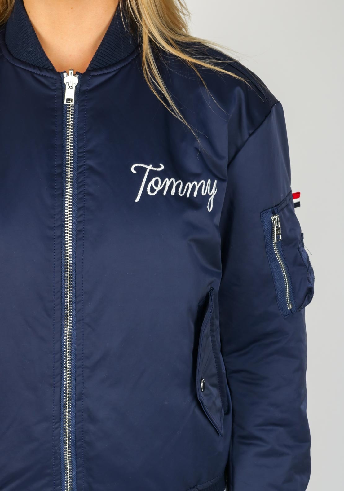 806584b47b107 Tommy Jeans Womens Reversible Bomber Jacket