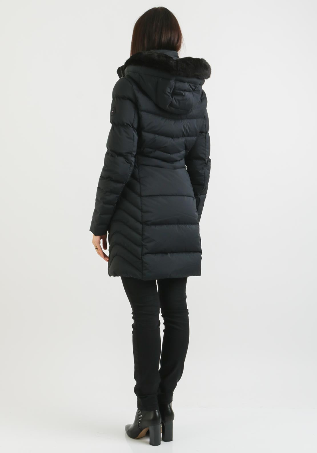 3da2ce0c Tommy Hilfiger Womens April Quilted Coat, Black. Be the first to review  this product