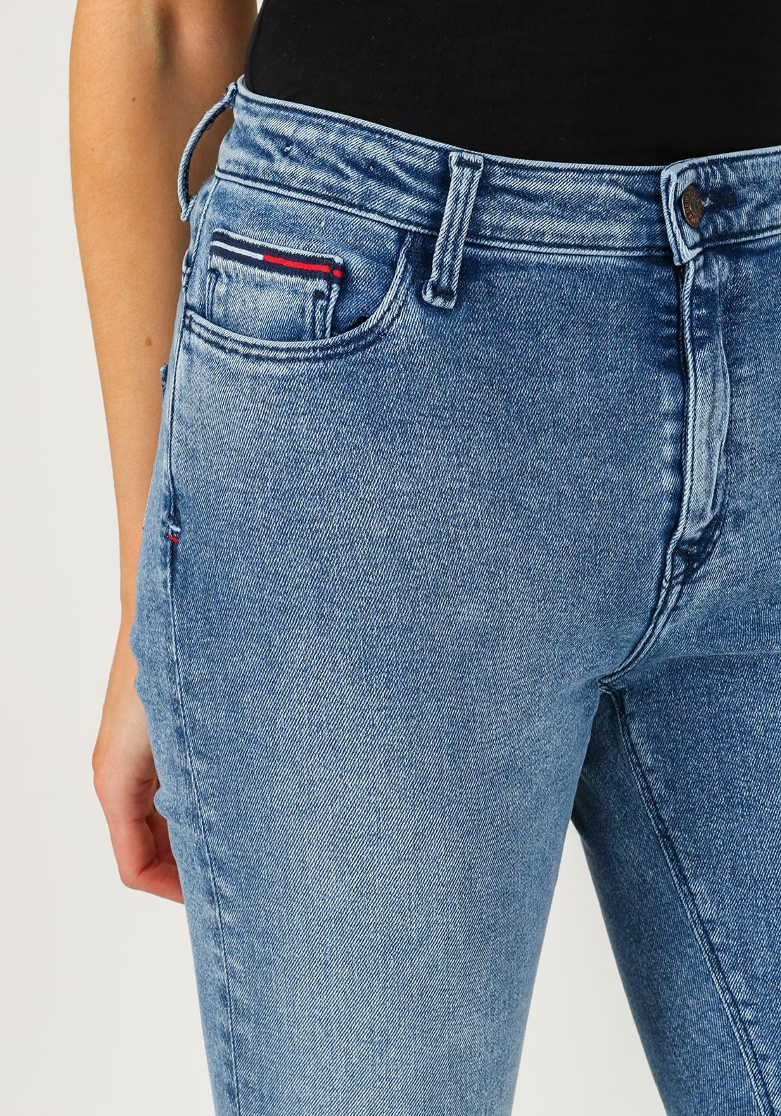 24626581c12 Tommy Jeans Santana High Rise Skinny Jeans, Light Blue. Be the first to  review this product