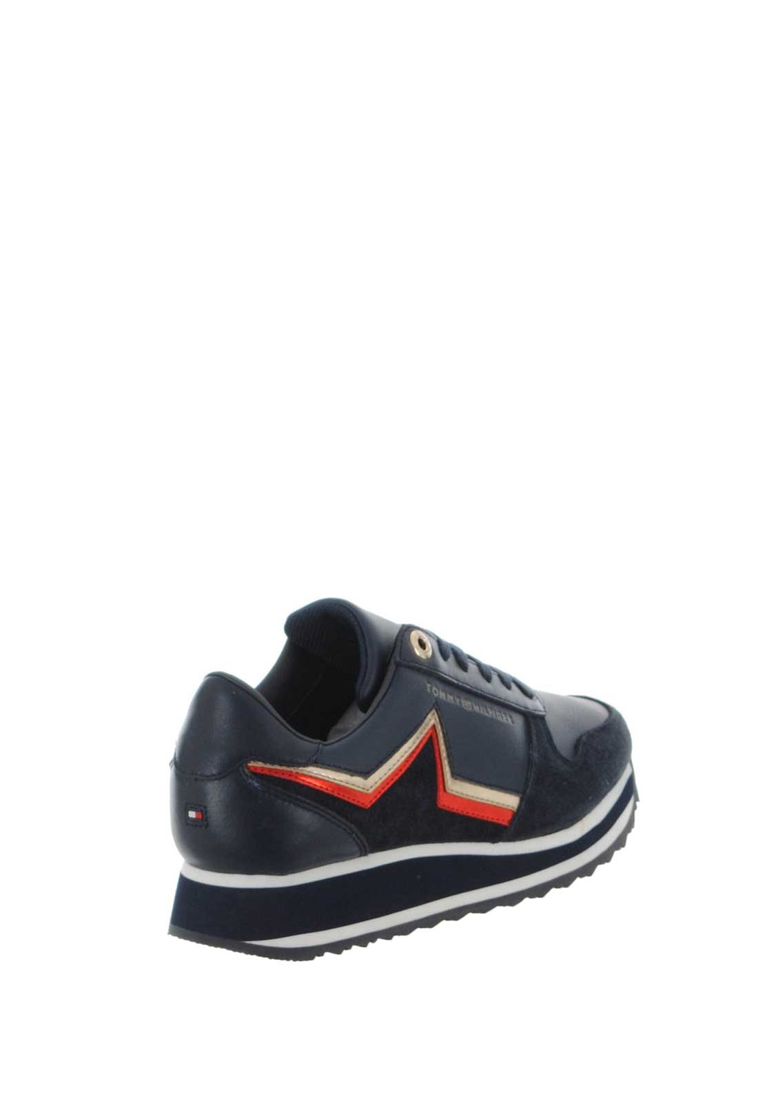 834eb60e518379 Tommy Hilfiger Womens Leather Star Trainers
