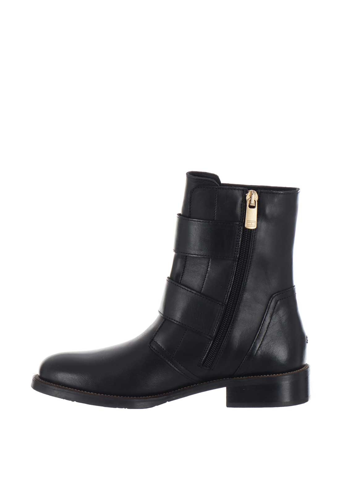 Professionel 2018 Schuhe limitierte Anzahl Tommy Hilfiger Womens Oversized Buckle Leather Boots, Black