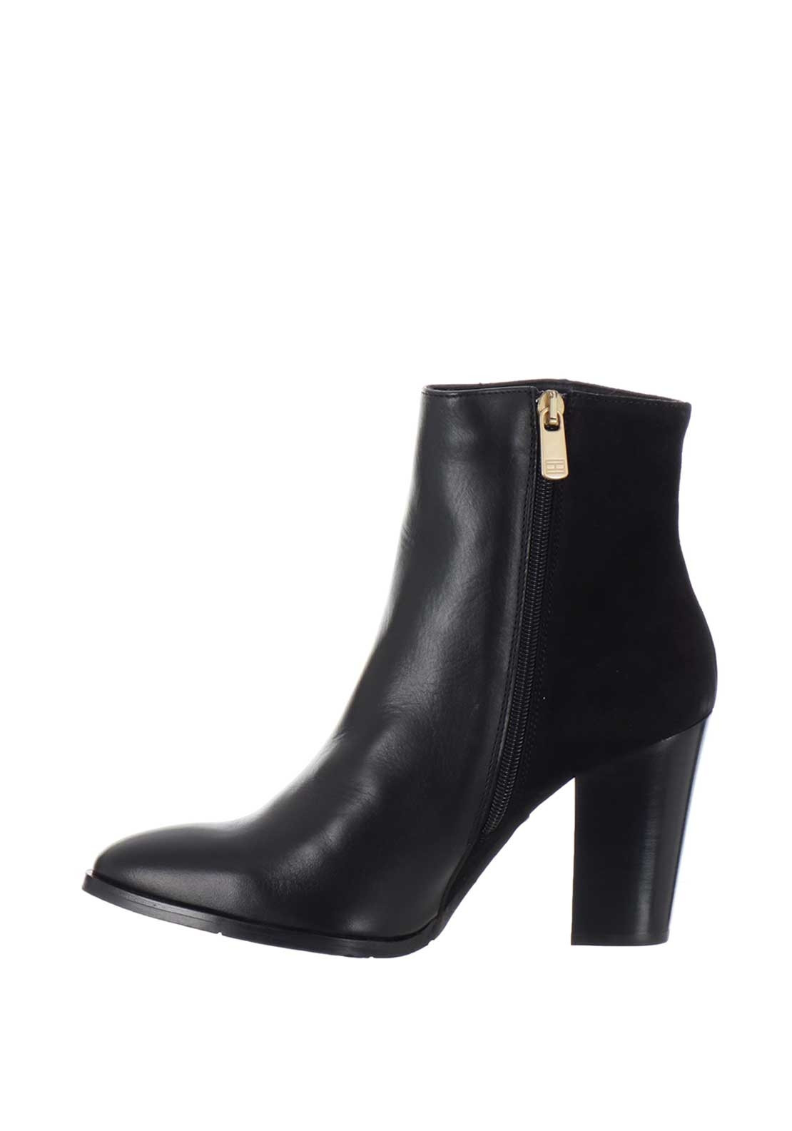 e0394d8b08 Tommy Hilfiger Womens Leather Star Ankle Boots, Black | McElhinneys