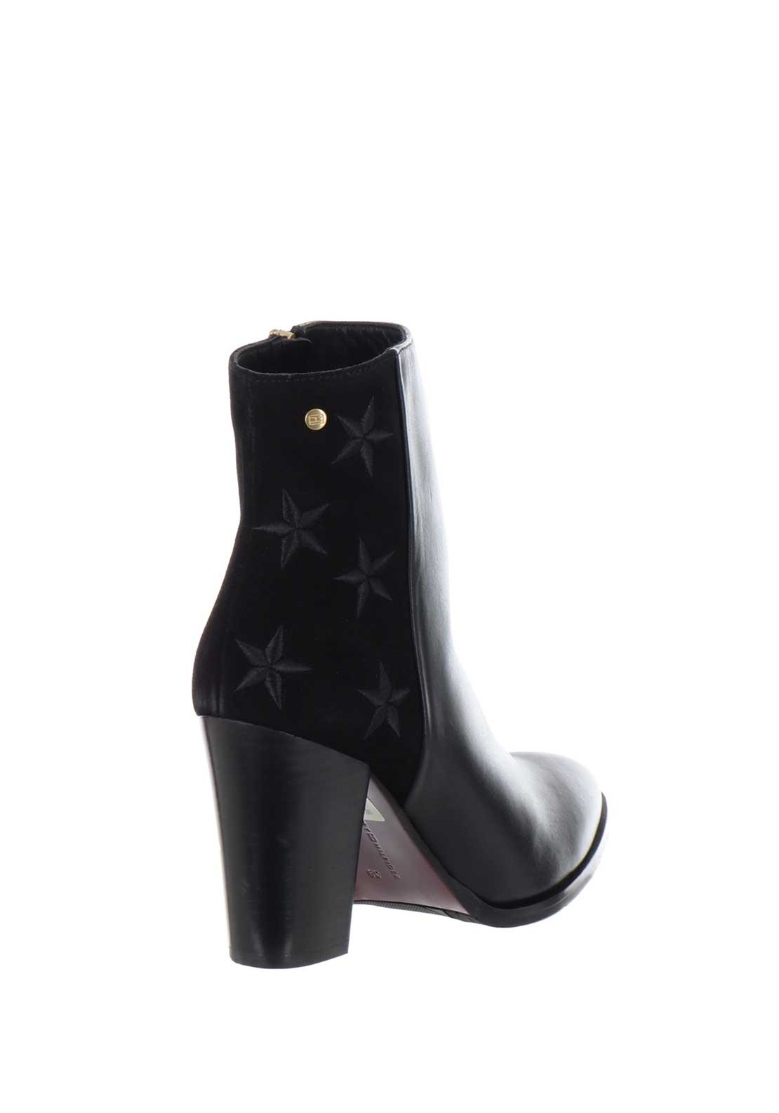 95090fd0b82 Tommy Hilfiger Womens Leather Star Ankle Boots, Black