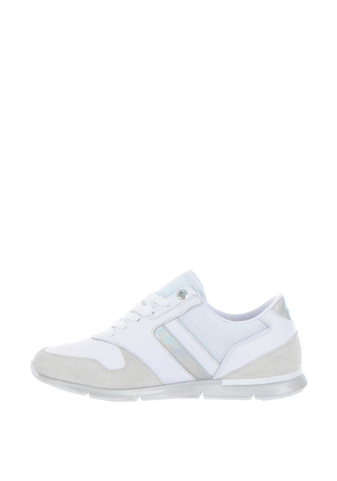 19cd52b9d Tommy Hilfiger Womens Iridescent Light Trainers, Silver. Be the first to  review this product