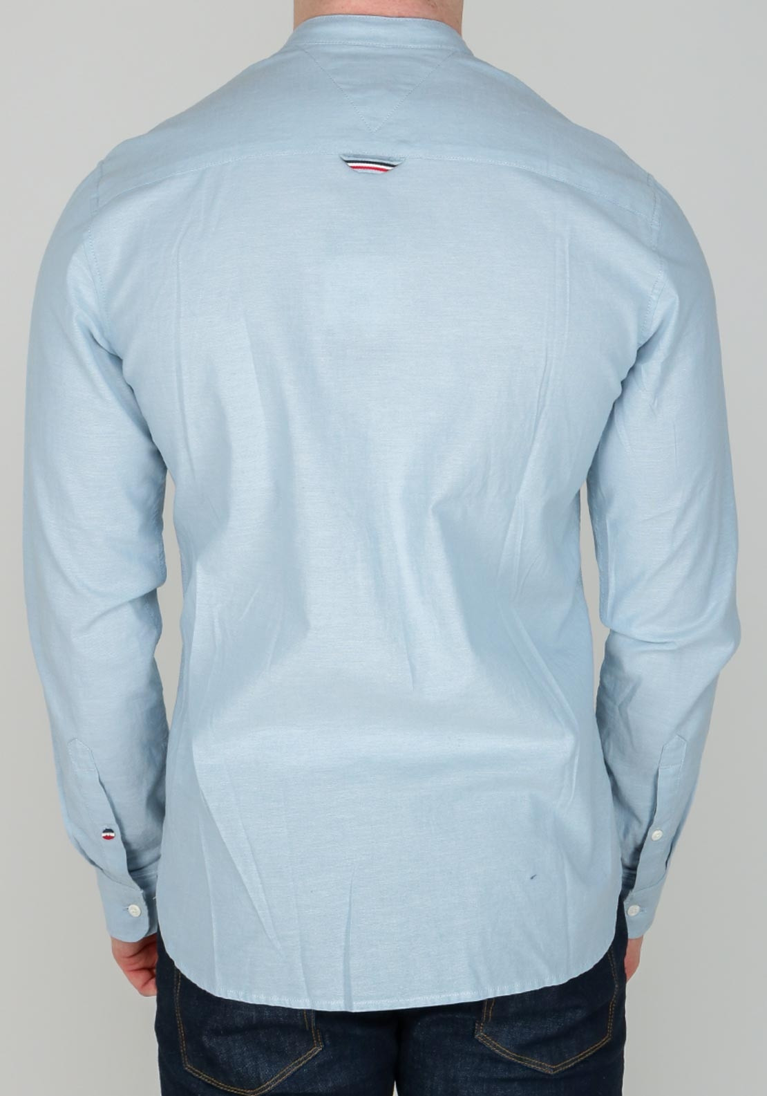 7669eaae Tommy Jean's Men's Basic Grandad Shirt, Light Blue | McElhinneys
