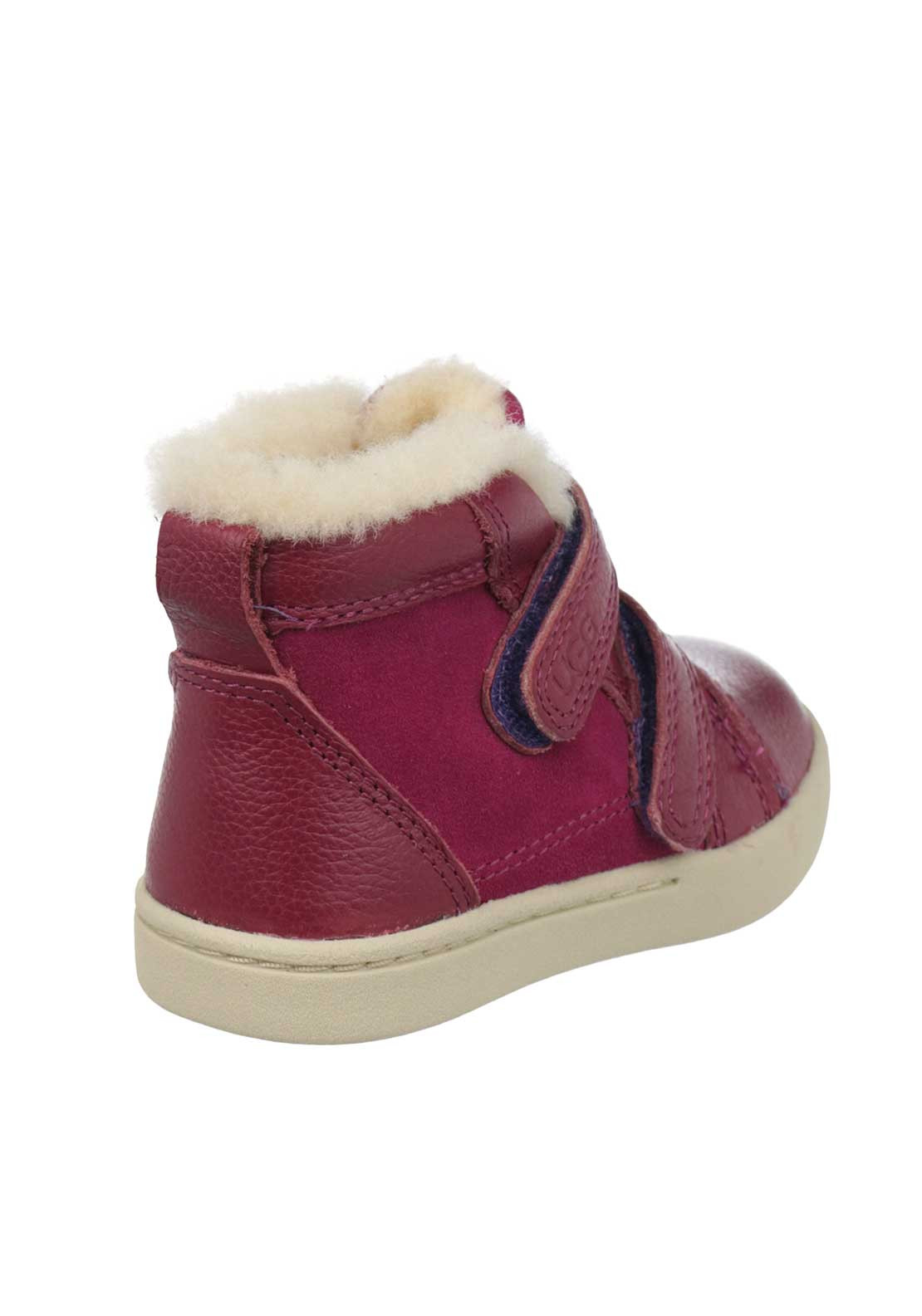 Ugg Australia Baby Girls Rennon Leather Velcro Strap Boots