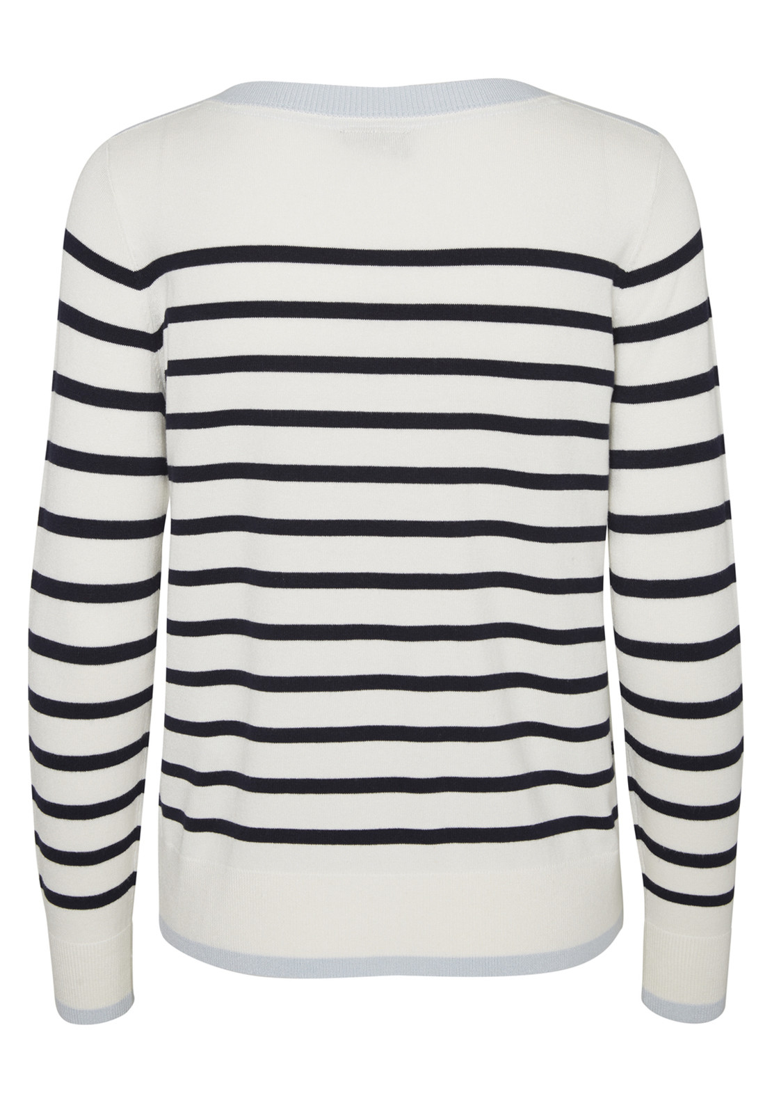 Navy Blue And White Striped Sweatshirt