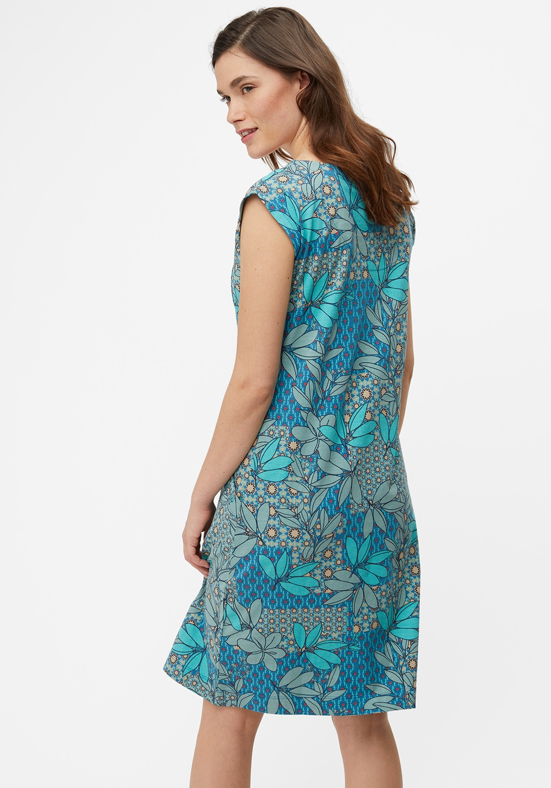 333978e0c1 White Stuff Lena Printed Jersey Dress, Teal Blue. Be the first to review  this product