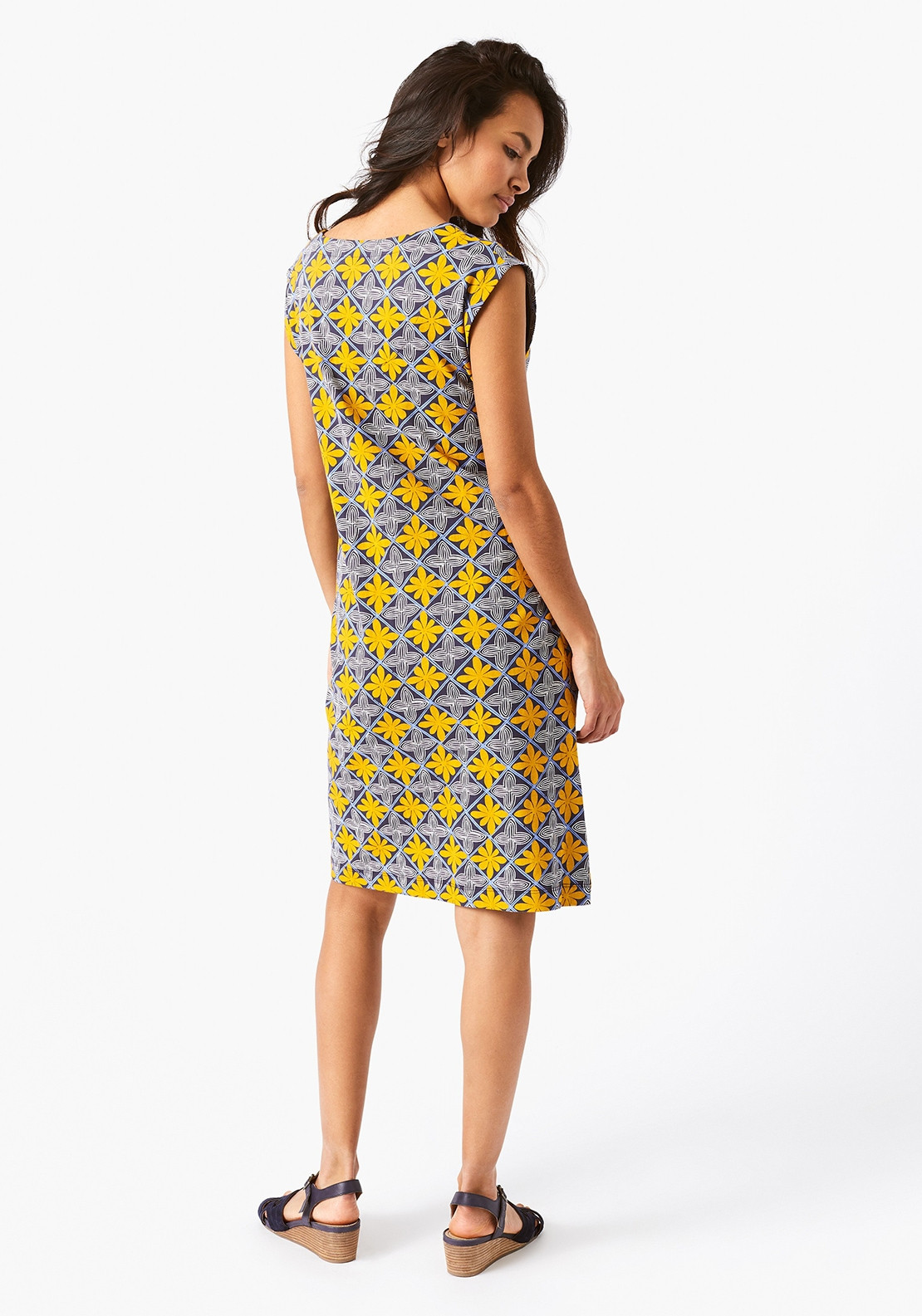 932701f820 White Stuff Lena Fairtrade Cotton Dress, Yellow & Blue. Be the first to  review this product