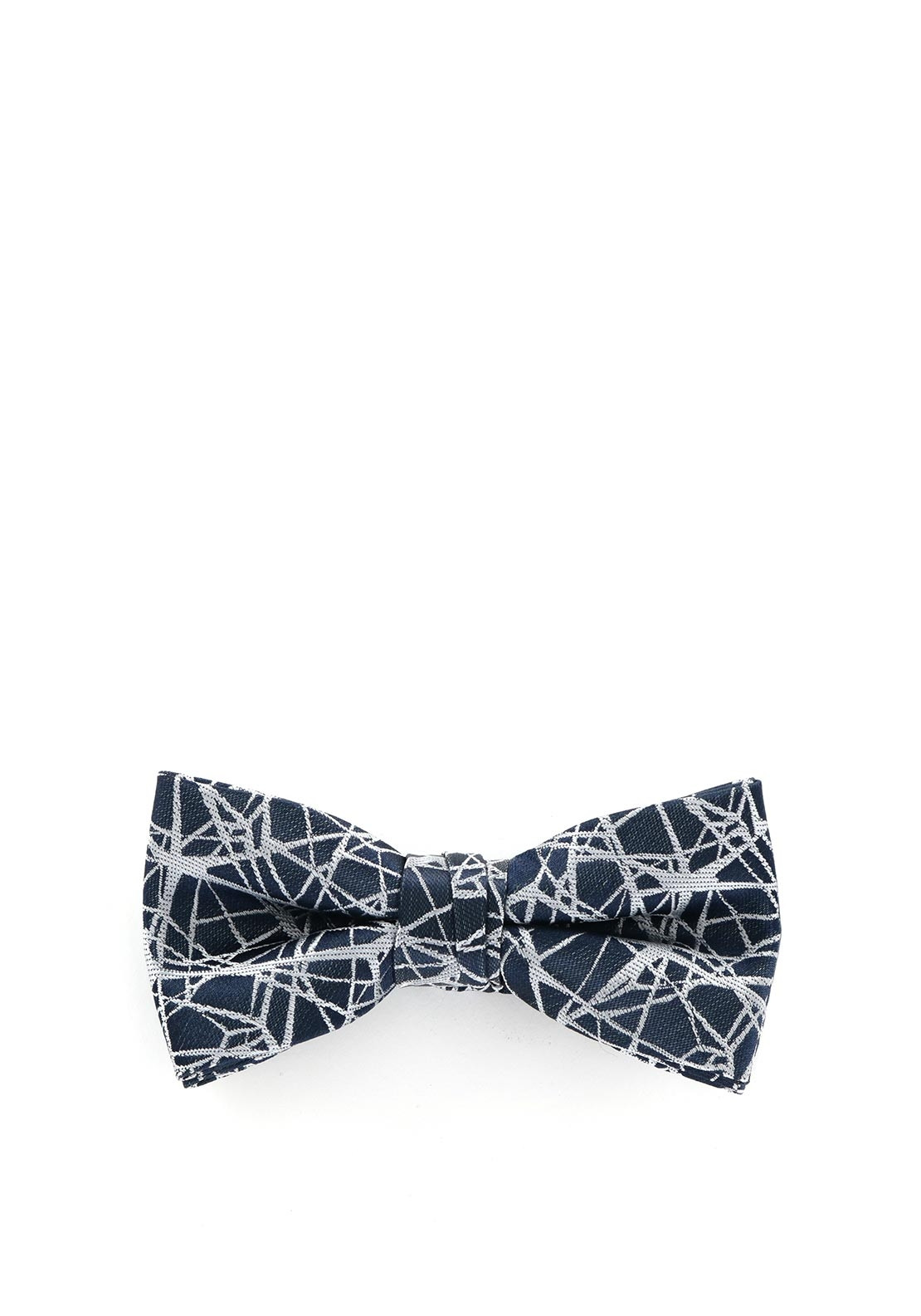 1880 Club Abstract Print Bow Tie, Navy