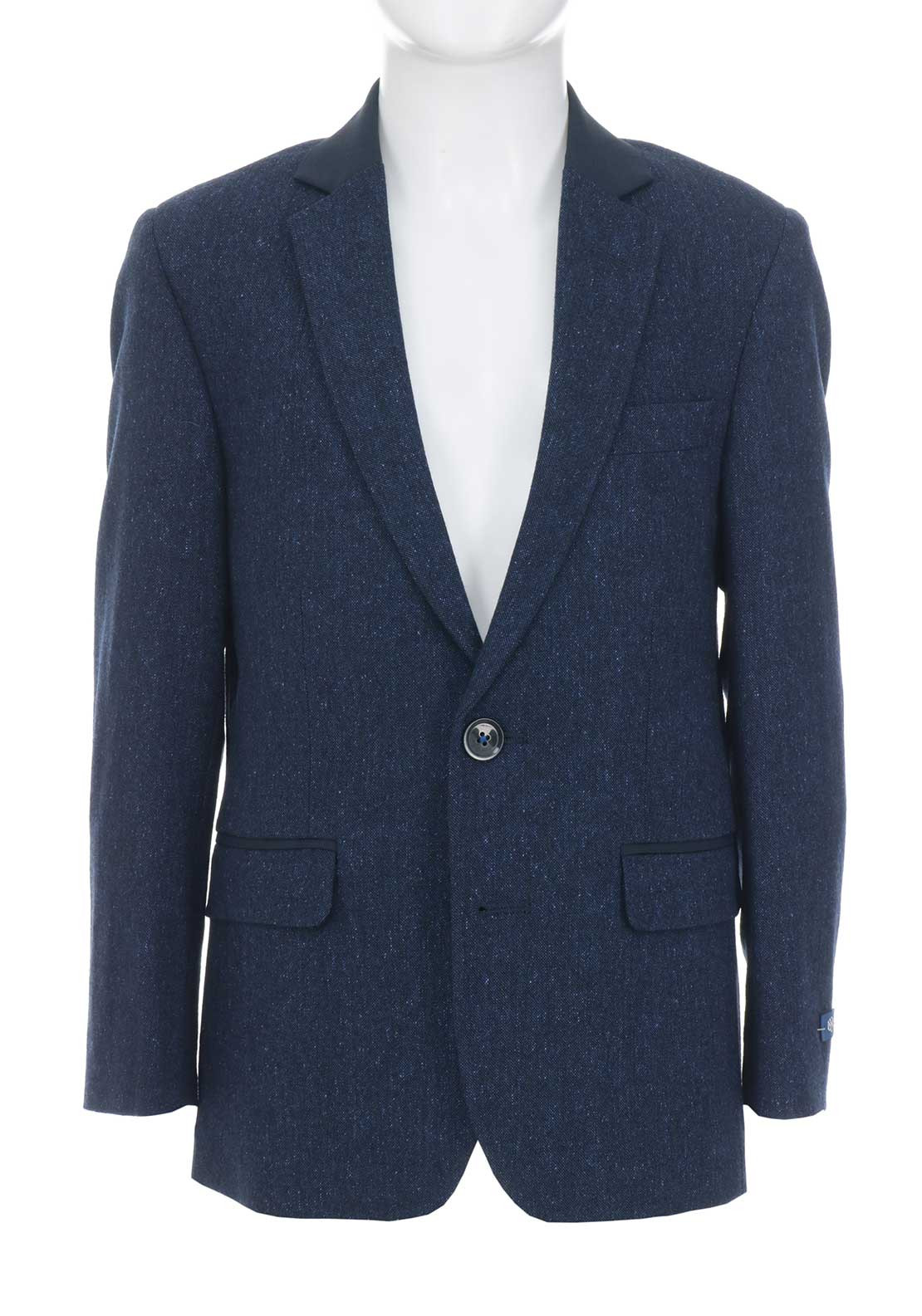 1880 Club Boys Wool Blend Tweed Blazer, Navy