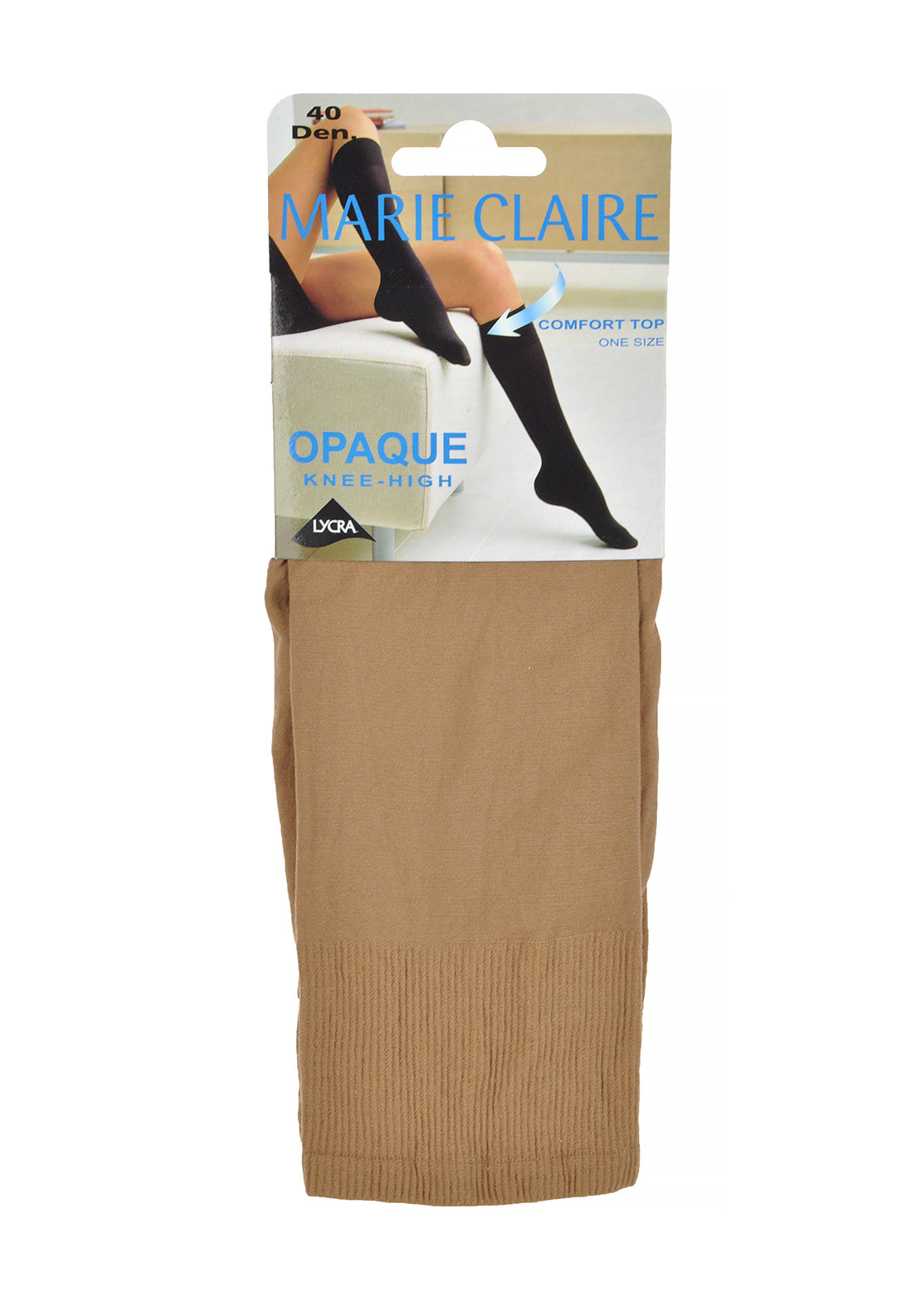 Marie Claire 40 Denier Opaque Knee High Stockings Natural, One Size